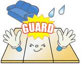 床保護を表現したイラスト