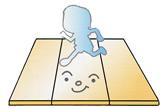 滑らないフローリングを表現したイラスト