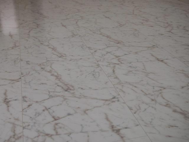 大理石模様の床