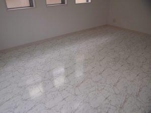石目模様の床材