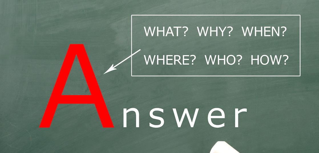 答えと書かれた黒板